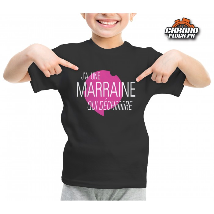 t shirt humoristique de marraine coupe fille gar on. Black Bedroom Furniture Sets. Home Design Ideas