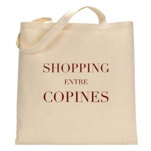 Tote Bag Shopping entre copines