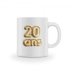 Mug anniversaire 20 ans