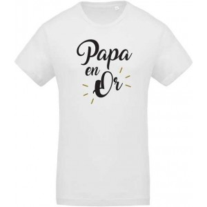 T-shirt papa en or