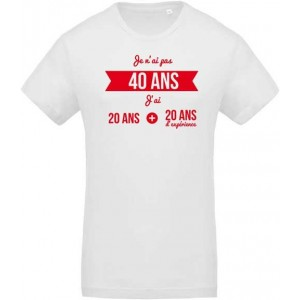 tee shirt d anniversaire pour f ter ses 40 ans chrono flock. Black Bedroom Furniture Sets. Home Design Ideas