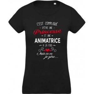 T-shirt princesse et animatrice