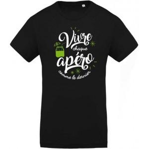 T-shirt vivre chaque apéro comme le dernier