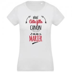 T-shirt fille canon va se marier