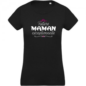 T-shirt future maman exceptionnelle