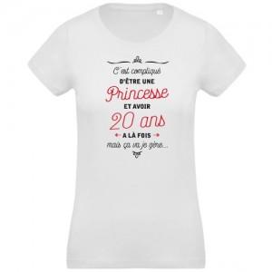 T-shirt princesse et 20 ans