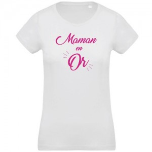 T-shirt Maman en Or