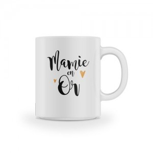 Mug Mamie en Or