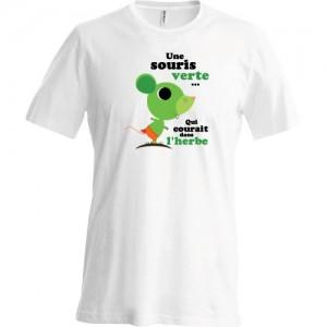 T-shirt Une souris verte