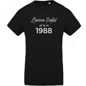 T-shirt Homme parfait est né en 1988