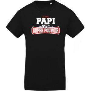 T-shirt Bio Papi super pouvoir
