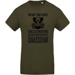 T-shirt Bio les meilleurs deviennent chasseur