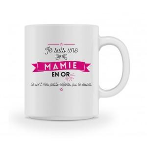 Mug Je suis une mamie en or