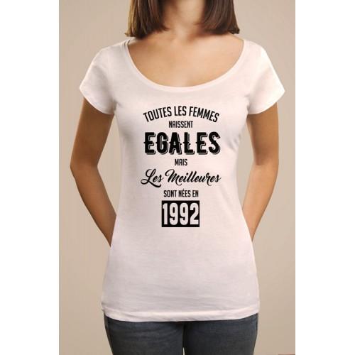 T-shirt Bio femmes naissent egales 1993