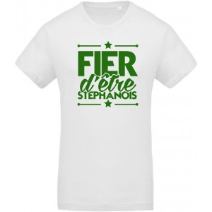 T-shirt Fier d'être stéphanois