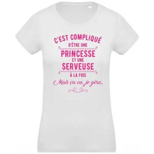 T-shirt princesse et serveuse