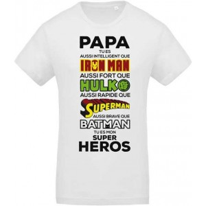 T-shirt papa super héros