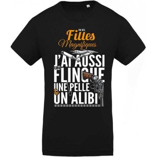 T-Shirt J'ai Des Filles magnifiques - L'original