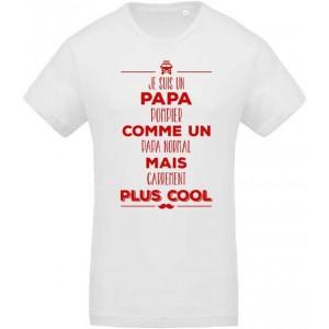 T-shirt Papa pompier