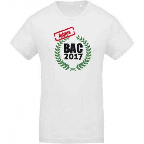T-shirt Admis BAC 2017