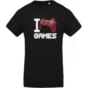 T-shirt I love Games