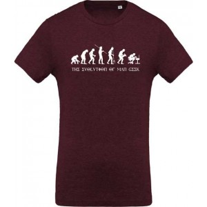 T-shirt Evolution of man geek