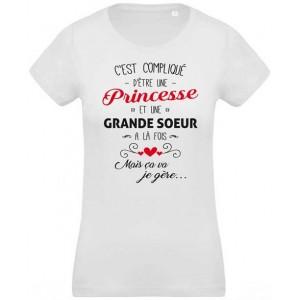 T-shirt princesse et grande soeur a la fois