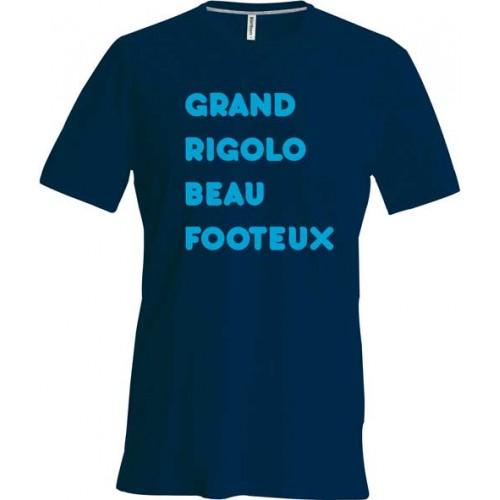 T-shirt grand rigolo beau footeux