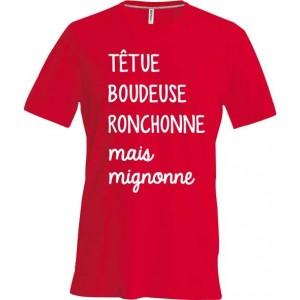 T-shirt tetue
