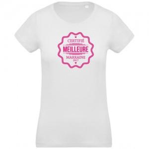T-shirt certifié meilleure marraine