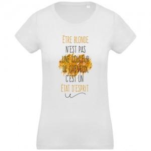 T-shirt être blonde