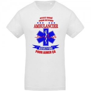 T-shirt ambulancier