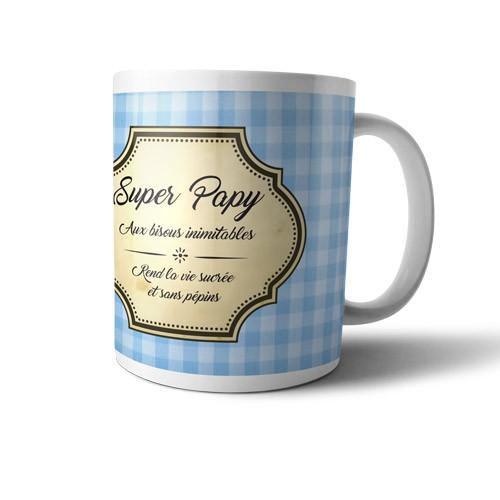 Mug super papy aux bisous inimitables