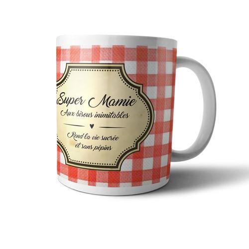 Mug super mamie aux bisous inimitables