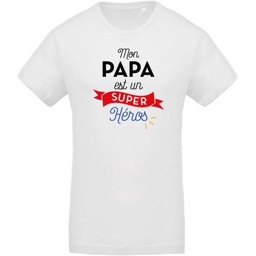 T-shirt Papa est un super héros