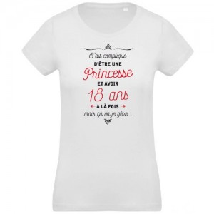 T-shirt princesse et 18 ans