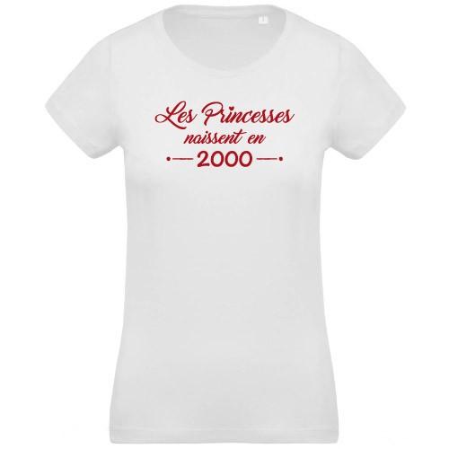 T-shirt Princesses naissent en 2000