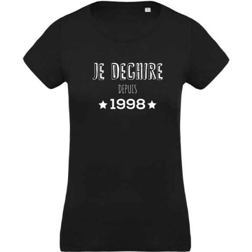 T-shirt Je dechire depuis 1998
