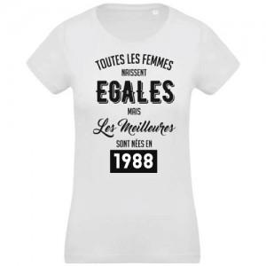 T-shirt femmes naissent égales 1988