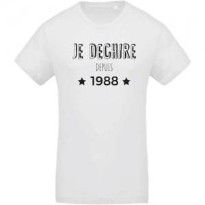 T-shirt Je dechire depuis 1988