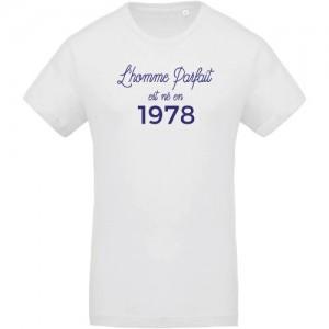 T-shirt Homme parfait est né en 1978
