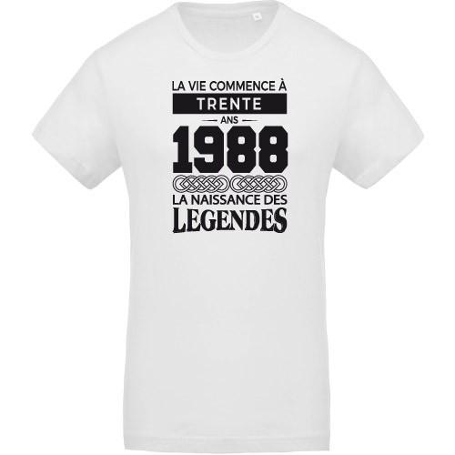 T-shirt Naissance des légendes 1988