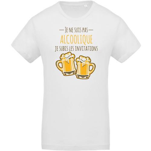 T-shirt Bio Je subis les invitations