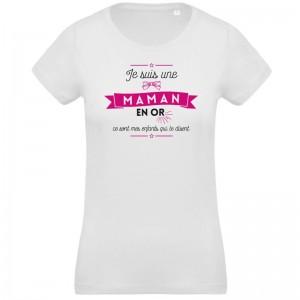 T-shirt Bio maman en or