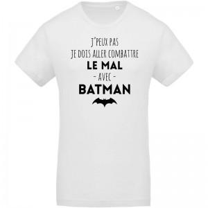 T-shirt Bio j'peux pas Batman