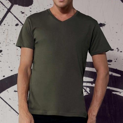 Personnalisez Votre T-Shirt coton Bio Col V Homme