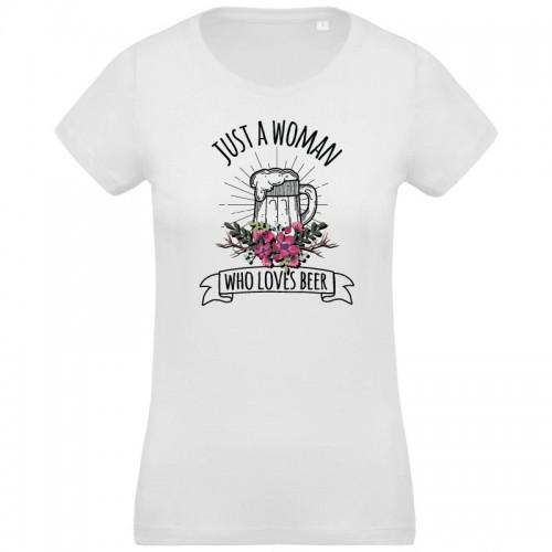 T-shirt Bio just women who loves beer