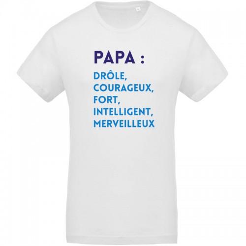 T-shirt bio définition papa
