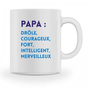 Mug blanc définition papa