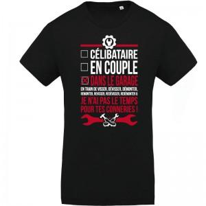 T-shirt Bio pour homme imprimé garage